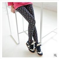 A757 Korea fashion all-match fresh garden Floral Cotton Leggings pencil pants nine pants