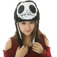 Amur Cartoon Plush Beanie Fleece Winter Warm Animal Bomber Hats panda pig elephant