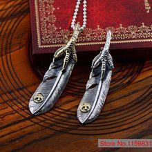 925 sterling silver jewelry personalidade fashion de penas de águia pingente de modelos masculinos xh047693w(China (Mainland))