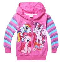 Cartoon Little Pony Jacket For Girls Hoodie NEW Jacket Rainbow Dash Pinkie Pie Twilight clothes Children Outerwear kids Coats
