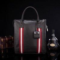 High Quality Zipper Handbags Men Messenger Bags,Lock Decorative Genuine Leather Shoulder Bag Man Briefcase DHL Free Shipping