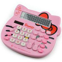2015 New Arrived Hello Kitty Cartoon Calculator 12 Digit Calculator Solar Energy Type Calculators Office Supplies