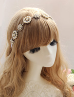 Bride pearl alloy the bride hair bands hair accessory the wedding bride style accessories