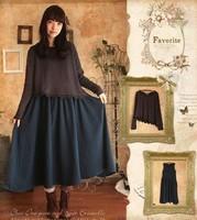 Forest mori girl winter dress lolita girl harajuku loose vintage twinset one-piece dresses vestido oncinha brandy melville