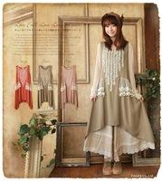 Japanese Harajuku mori girl Lace patchwork dress princess sweet lolita girl tank cotton dress loose desigual vestidos oncinha