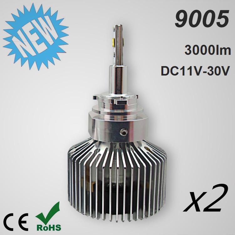 1 Set 9005 HB3 6000lm Super White Headlight LED Bulb Car Auto Head Lamp 12V CE ROHS(China (Mainland))