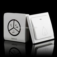 Free shipping Self-generating Wireless Waterproof Door Bell Wireless Receiver Walls Switch