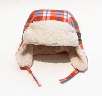 2015 New Kids Winter cap Snow cap  Original order Orange Knit  Ear Cap 4 size 46cm,48cm,50cm,53cm