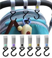 Colorful Plastic Baby Pram Stroller Pushchair Car Hanger Hanging with 2 Hooks HG499