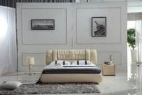 0414-805 modern design soft leather bed