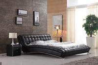 0414-813 modern design soft leather bed/bedroom furniture