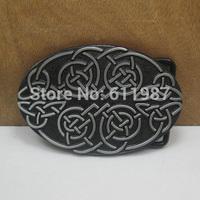Western celtic belt buckle with black coating FP-03506 suitable for 4cm wideth belt