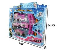 New 2015 Frozen Electric Train Set Rail Road Tracks Railway Cars Train Model Assembly Kids Girls Toys Birthday Christmas Gift