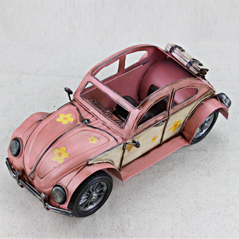 Beetle car models ornaments handmade ornaments vintage clothing store caf bar furniture decorations(China (Mainland))