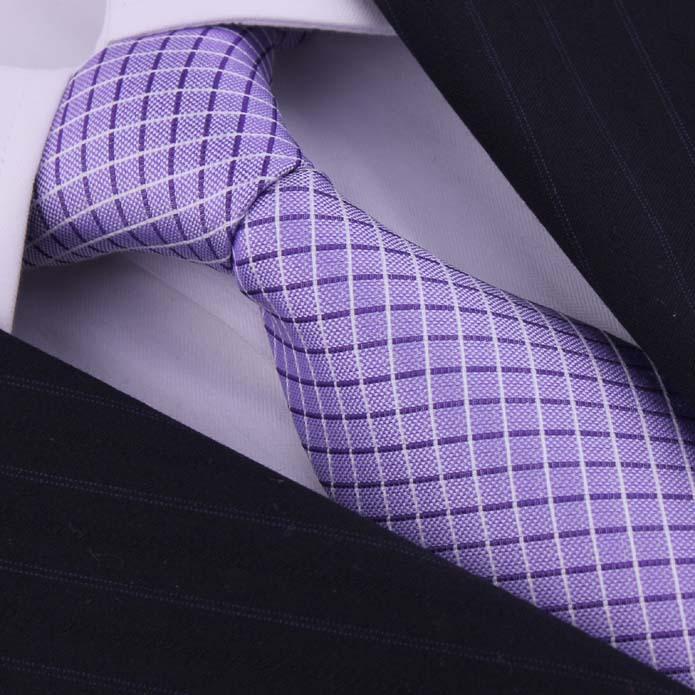 Brand 100 Silk Blue Plaid Men s Ties Corbatas Neckties For Gentlemen Formal Wedding Dresses Neckwear