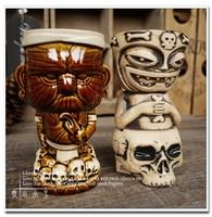 American Creative Ceramic Cocktail Mug Maori Chiefs Tiki Cup Hawaii Home Decoration Popular Fashion Cup