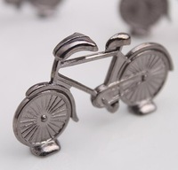 100CS/LOT Small Bicycle Place Card holder Silver-finish card holder Free shiping Wedding favors and gifts