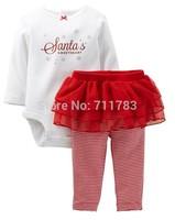 wholesale carter's baby girl 2pcs  bodysuit with tutupants set.  5sets/lot, free shipping