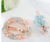 Hair accessory rhinestone bow hairpin female hair accessory hair pin clip hair spring clip maker accessories