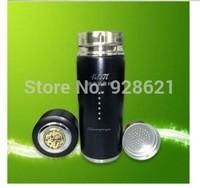 black Alkaline water cup stainless steel vacuum cup tourmaline nano energy cup alkaline water cup