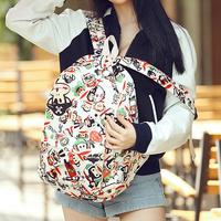 Desigual preppy cartoon backpack,fashion 15 patterns canvas student school bag,Print flower mochila feminina,kip men's backpack