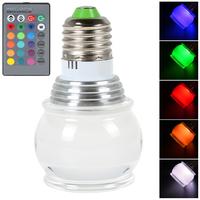 170 Degree 3W E27 Lantern RGB 2835 LED Lamp 16 Colors Change Acrylic Ceiling Lamp Light Bulb + Remote Controller