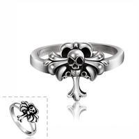 Free shipping! 2015 Newest unique designer big rings, cool fashion mens skull rings USR625