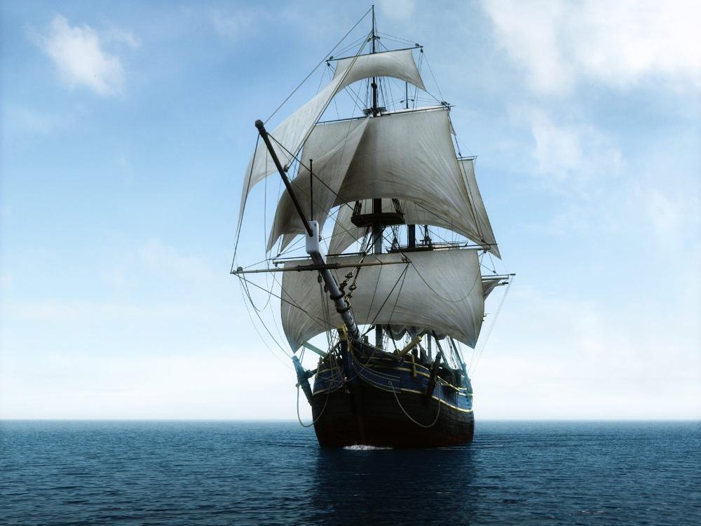 Sailing Ship Cartoon Sailing Ship 3 39 Size Silk