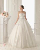 Hot Strapless Lace Vintage Backless Wedding Dress Buttons Down the Back Export Iimport china vestido de noiva 2014 com renda