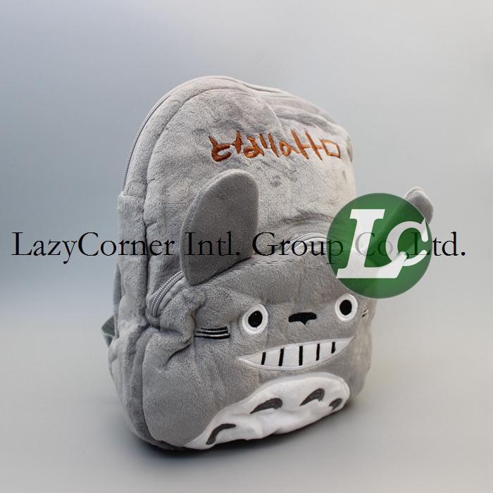 Anime 32*26cm 5pcs/lot Totoro Plush Backpack Bags Children School bag Backpack Stuffed Plush Bags Movie TV Cartoon Plush Toys(China (Mainland))