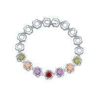 new brand design woman fashion 18K gold bracelet TOP flowers Zircon Bangle Bracelet 109989