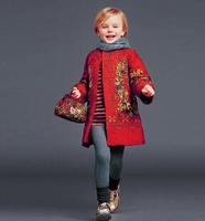 High End 2014123 winter children jacket&outerwear,Girls  Animal Print Children Winter Outerwear Hooded Coat Girl Kids Jackets