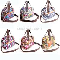 2014 Fashion Mummy bags waterproof nappy bags beautiful flower baby diasper bay leisure fashion mom hangbags
