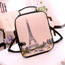 2014 fashion print backpack women brand female small PU backpack pretty school bag free shipping(China (Mainland))