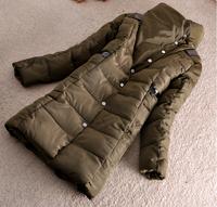 2014 Parkas For Women Winter Coat Jacket Women Outerwear Army Green And Black Long Down Jacket Plus Size Parka Jaqueta Feminina