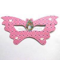 luxury  party   kid  girl baby happy birthday party decoration kits supplies girl sofia princess mask 36pcs/lot