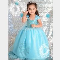 snowflake Cosplay Frozen Costomes for Kids Girls Christmas Fantasia Anime Infantil Femininas infantis Vestidos Sleeveless Dress
