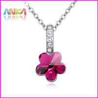 Love Flower pendant necklace made with Swarovski Elements Crystal Fashion jewelry for women #109133