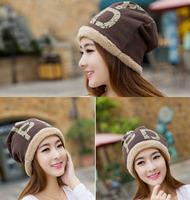 2014 New Korean Style Autumn Winter Wool Fashion Men/Women  English Word cap Ear Caps 6 Colors Gifts