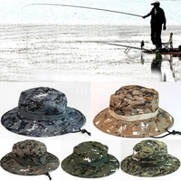 2015 Hot Womens Mens Unisex New Cool Camo Military Camouflage Boonie Cap Sun Bucket Brim Bush Army Fishing Hiking Hunting  A2