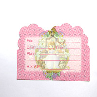 luxury party sofia princess for  kid baby girl baby happy birthday party decoration supplies favors invitation cards 36pcs/lot