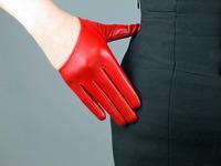 New fashion Ladies Real Leather Half Palm Short Gloves YF89