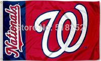 MLB washington national Flag 3x5 FT 150X90CM Banner 100D Polyester flag 1040, free shipping