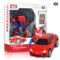 Deformation robot kumgang 4 adjust car set child boy model toy deformation toy car