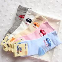 A731 children's socks wholesale manufacturers Korea cute cartoon car auto cotton socks for men and women