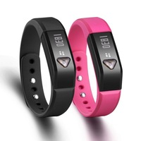5pcs/lot Bluetooth 4.0 IP67 Smart Wristband Bracelet Sports Sleep Tracking Health Fitness Pedometer Smart Watch
