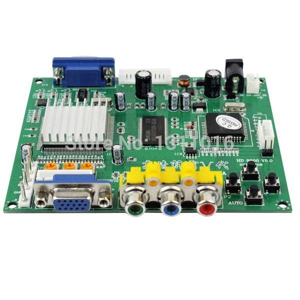 Newest HD9800 CGA/EGA/YUA to VGA Game Converter Board Supports All VGA Monitor(China (Mainland))