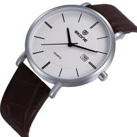 2015 Design! Original Brand SKONE Luxury Men Fashion Genuine Leather Strap Quartz Waterproof Watches