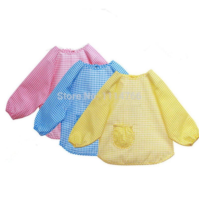 Baby Toddler Kids Waterproof Feeding Bibs Long Sleeve Children Feeding Art Smock Bib Apron 0Ou1(China (Mainland))