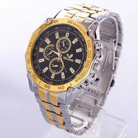 Free Shippingb  2014 Fashion Watches Men Stainless Steel Belt Sport Business Quartz Watch Wristwatches b7 SV000898